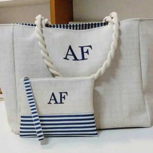 Dai Bag Azul Marinho Listrada