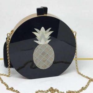 Fruit Pineapple Bag Black